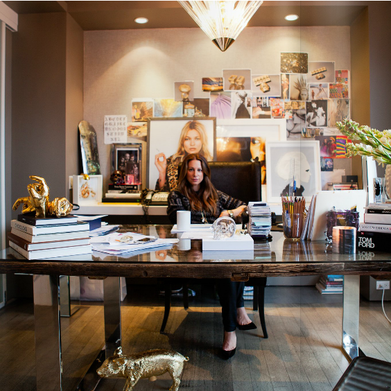 Jennifer Fisher at her desk