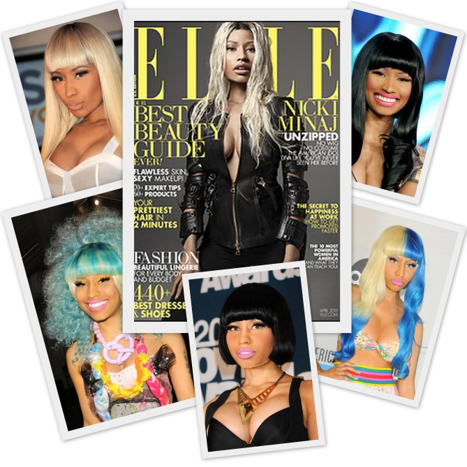 Niki Minaj Elle Collage