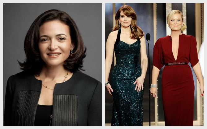 Sheryl Sandberg, Tina Fey and Amy Poehler